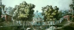 Kina slott version två avbildat 1788 av Louis Jean Desprez som var arkitekt och målare