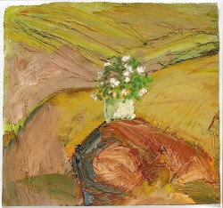 EVERT LUNDQUIST (1904-1994), Flowers on the Cliff