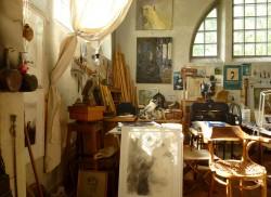 Evert Lundquists ateljé är bevarad med sin kompletta inredning