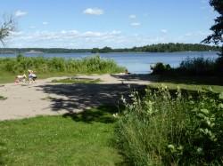 Badplats norr om Hovgården