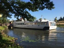 Fin morgon för båtpendling till Stockholm (foto Ekeröguiden)
